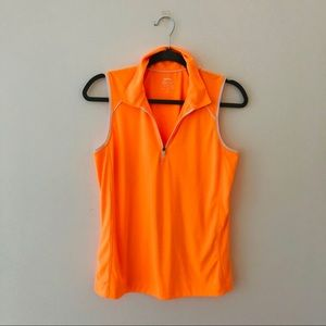 SLAZENGER Day-Glo Orange Sleeveless Top